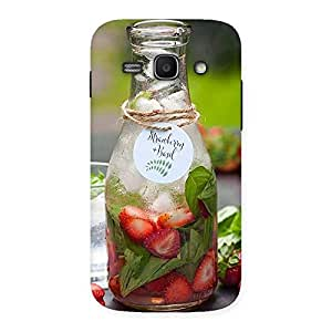 Cute Strawberry and Basil Multicolor Back Case Cover for Galaxy Ace 3