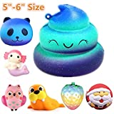Jumbo Slow Rising Squishies Charms Kawaii Squishies Cream Scented Toys For Kids and Adults (White)