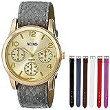 XOXO Women's XO9027 Seven Color Snake Interchangeable Strap Set Watch