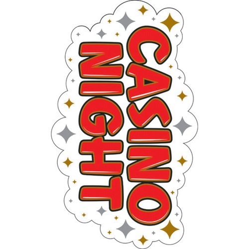 "Card Night Cut Out 21"" Casino Night - Each - 1"
