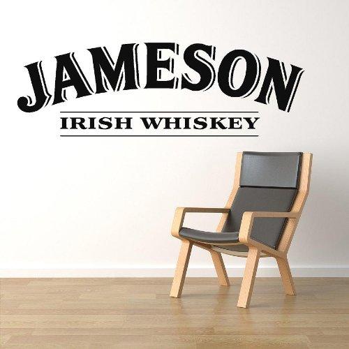 VINYL STICKER NEW JAMESON IRISH WHISKEY IN BLACK