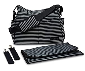 Quick Trip Diaper Bag for Mom & Dad On-The-Go: Messenger Tote w/ Changing Pad & Stroller Straps from AeroBaby LLC