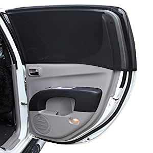premium full side window cover for baby car sun shade with dual layer protection. Black Bedroom Furniture Sets. Home Design Ideas