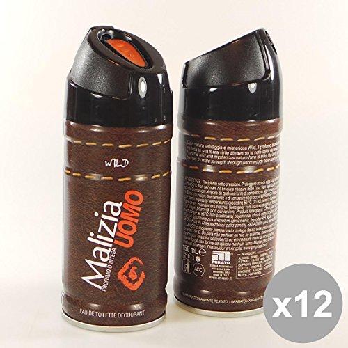 Set 12 MALIZIA Deodorante Uomo Spray 150 Wild - Cura del Corpo