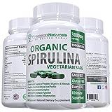 Precision Naturals Organic 500 mg Spirulina Vegetarian Safe Capsules, 180 Capsules