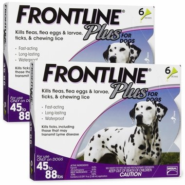 Merial Frontline Plus for Dogs, 45 to 88-Pound, 12-Pack
