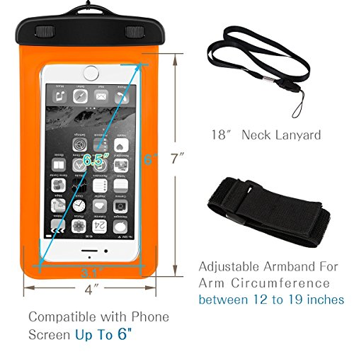 Optimatch Universal Waterproof Case, Cell Phone Dry Bag ...