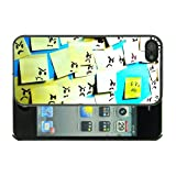 Apple iPhone 5 Fun Funny Post it notes Case/Cover + Screen Protector - Black
