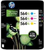 HP 564XL High Capacity XL Cartridges Combo Pack (1 Cyan, 1 Magenta, 1 Yellow)