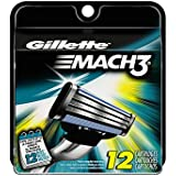 Gillette Mach3 Base Cartridges, 12 Count- Packaging May Vary