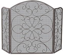 3 Fold Bronze Screen With Ornate Design