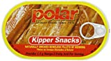 Fished from the clear waters of the Europe North Sea and the North Atlantic, these Kipper Snacks are produced by one of Germany's renowned canneries. Polar Kipper Snacks are skinless, boneless, naturally hot-smoked (kippered) fillets of herring leaving only the fillet packed in its natural juices. They are naturally hot smoked, free of any foreign additives, just herring and salt and are produced in Germany.