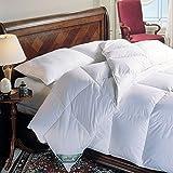 King Size White Down Alternative Comforter - Duvet Cover Insert - 100 Ounces of Fill