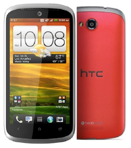 Htc One Vx At&T 4G Lte Unlocked Gsm Android Cell Phone - Gray/Red
