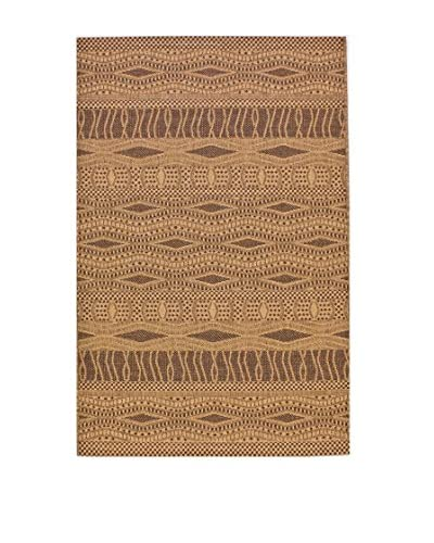 Tapis a Porter Alfombra Natural Natural/Oro/Chocolate 110 x 170 cm