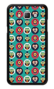 "Humor Gang Owls Hearts Flowers Pattern Printed Designer Mobile Back Cover For ""Samsung Galaxy j7"" (3D, Glossy, Premium Quality Snap On Case)"