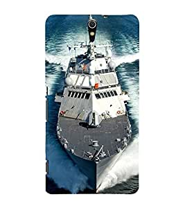 Ship on the Sea 3D Hard Polycarbonate Designer Back Case Cover for Sony Xperia C5 Ultra Dual :: Sony Xperia C5 E5533 E5563