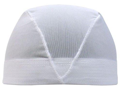 アスナロ(帽子・キャップ) 水泳帽 子供 メッシュ キッズ ジュニア 無地S(48-52cm) 白