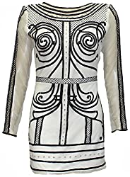 Attuendo Women's Embellished and Embroidered Mini Dress (Small)