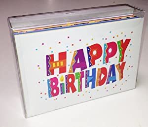Amazoncom birthday card assorted pack set of 36 cards for Birthday cards in bulk for businesses