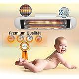 H+H Premium Wickeltisch Heizstrahler 600 Watt mit Abschaltautomatik