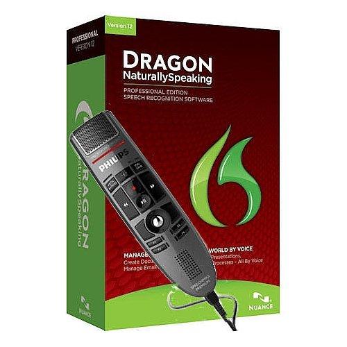 Nuance Lfh3500-Pro Dragon Naturallyspeaking Professional Version 12 With Speechmike Premium Usb Precision Microphone - Push Button Operation