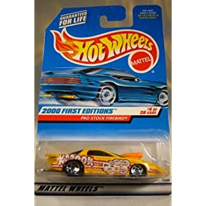 Hot Wheels 2000-064 First Edition 4 of 36 Yellow PRO Stock Firebird 1:64 Scale