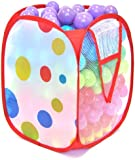 """Non-Toxic 300 """"Phthalates Free"""" Crush Proof Non-Recycled Quality 5.5cm Play Balls w/ Polka Dot Hamper & Test Reports :10 Colors"""