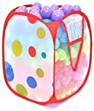 "Non-Toxic 300 ""Phthalates Free"" Crush Proof Non-Recycled Quality 5.5cm Play Balls w/ Polka Dot Hamper & Test Reports :10 Colors"