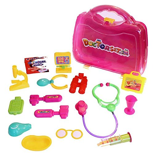 Dazzling Toys Adorable Dolls Doctor Kit. (For Any Doll) 16 Piece Set
