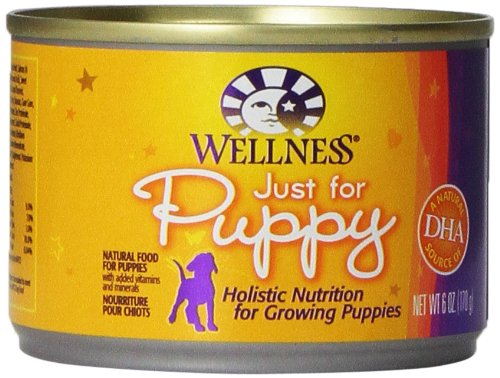 Wellness Canned Dog Food for Puppy, Just for Puppy Recipe, 24-Pack of 6-Ounce Cans