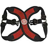Gooby Choke Free Perfect Fit X Harness for Small Dogs, Medium, Red