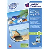 Avery 100 Feuilles Papier Photo Laser 150g/M2par Avery