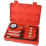 TecTake Kit Tester Pressione di Compressione per Motori MISURATORE Auto PISTONE CILINDRI 0-20 Bar O 0-300 PSI