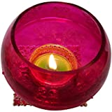 """Christmas Candles In Pink Colour With Cones And Candle Set 6 (3.25"""" * 3.25"""" , Height: 3"""")"""