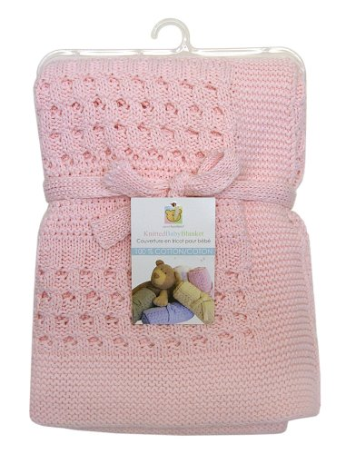 Piccolo Bambino Cotton Knitted Blanket, Pink