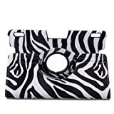 TOPCHANCES Black Zebra Print 2013 kindle fire HDX 8.9 PU Leather Cover Case in Different Vertical and Horizontal Stand -(Auto Sleep and Wake Speciality)