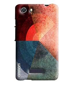 Omnam Three Color Pattern Printed Designer Back Cover Case For Micromax Unite 3