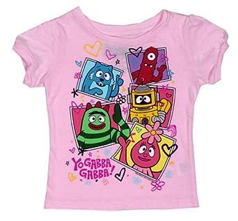 Portraits - Yo Gabba Gabba! Girls Infant And Toddler T-shirt: Toddler 4T - Baby Pink