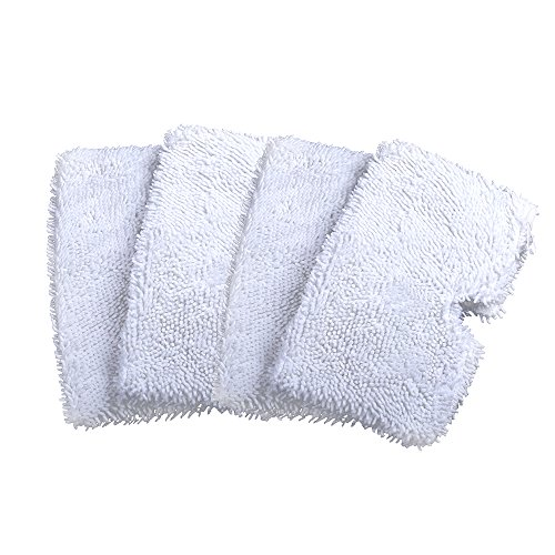 Rongbenyuan 4pcs Washable Replacement Cleaning Mop Pads for Shark Steam Mop Pocket Microfiber Pads for Shark S3500 series, S3601 and S3901 (12.57inches, White) (Washable Shark Steam Mop Pad compare prices)
