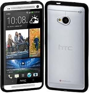 Cimo Hybrid Hard Back Cover Bumper Case for HTC One (M7) - Black