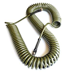 Refurbished Green 75 Ft. Drinking Water Safe Polyurethane Coiled Watering Hose - Save $20.00