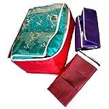 Indi Bargain Transparent Non Woven Multi Saree Cover (10-15 Sarees Capacity) Set of 3