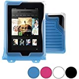 DiCAPac WP-T7 Universal Waterproof Case for Barnes & Noble Nook Color / HD / Tablet in Blue (Double Velcro Locking System; IPX8 Certified Underwater Protection up to 5M; Built-in Airbag Floats & Protects Device; Super Clear Polycarbonate Photo Lens; Included Neck Strap)
