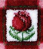 Caron Wonderart Latch Hook Kit 12 Inch X12 Inch - Little Rose