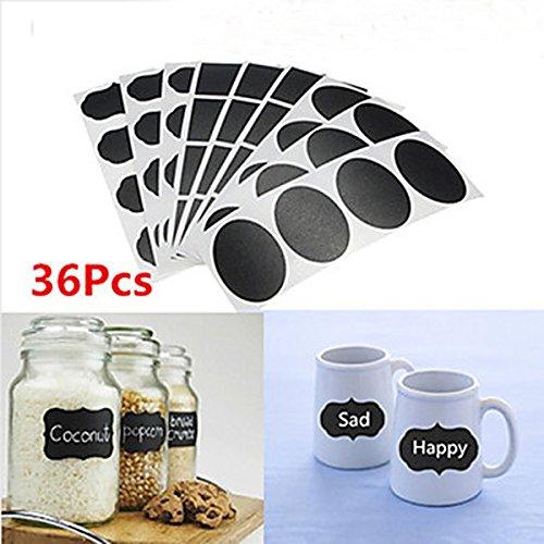 cucinagood-36pcs-lavagna-adesivi-etichette-decalcomanie-tags-vinile-cucina-vaso-coppa-bottle-decor