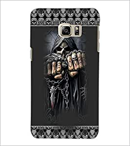 PrintDhaba Skeleton D-3667 Back Case Cover for SAMSUNG GALAXY NOTE 5 EDGE (Multi-Coloured)