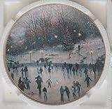 "Thomas Kinkade Cherished Yuletide Memories ""SKATER'S DELIGHT"" Collectors 8"" plate"