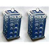 Doctor Dr Who Tardis Police Box Enamel Cufflinks Gift - Supplied in a Presentation Gift Box - Ideal Gift for Doctor Who Lover / Sci Fi Lover / Man in your Life