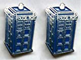 Doctor Dr Who Tardis Police Box Enamel Cufflinks Gift - Supplied in a Presentation Gift Box - Ideal Gift for Doctor Who Lover / Sci Fi Lover / Man in your Life images